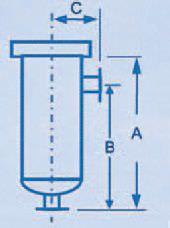 Моноэлементные корпуса фильтров серии TOPCART (TKF)