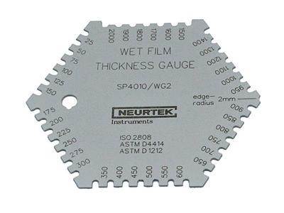 Измерение толщины влажного слоя покрытия